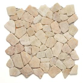 Solistone Indonesian Pebbles 10-Pack Alor Crystal Mosaic Pebble Floor Tile (Common: 12-in x 12-in; Actual: 12-in x 12-in)