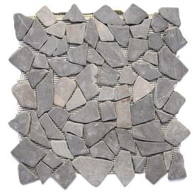 Solistone Indonesian Pebbles 10-Pack Balinese Nights Pebble Mosaic Pebble Floor and Wall Tile (Common: 12-in x 12-in; Actual: 12-in x 12-in)