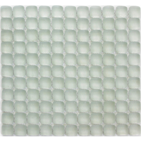 Solistone 10-Pack Pillow Glass Opalescent Honed Glass Mosaic Square Indoor/Outdoor Wall Tile (Common: 12-in x 12-in; Actual: 12-in x 12-in)