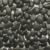 Solistone 12-in x 12-in Black Sea Natural Pebble Wall Tile