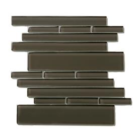 Solistone Piano Glass 10-Pack Rhythm Mosaic Glass Wall Tile (Common: 9-in x 10-in; Actual: 9.5-in x 10.5-in)