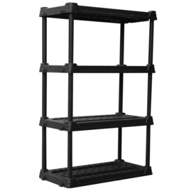 Blue Hawk 56.5-in H x 36-in W x 18-in D 4-Tier Plastic Freestanding Shelving Unit
