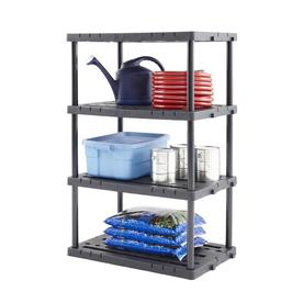 Blue Hawk 56.5-in H x 36-in W x 24-in D 4-Tier Freestanding Shelving Unit