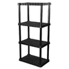 Blue Hawk 56-in H x 34-in W x 14-in D 4-Tier Plastic Freestanding Shelving Unit