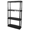 Blue Hawk 45-in H x 24-in W x 14-in D 4-Tier Plastic Freestanding Shelving Unit