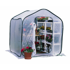 Flowerhouse 6-ft L x 6-ft W x 6.5-ft H Poly Sheeting Greenhouse