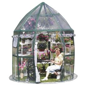 Flowerhouse 8.5-ft L x 8.5-ft W x 10-ft H Poly Sheeting Greenhouse