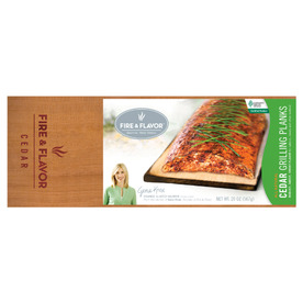 Fire & Flavor 2-Pack 15-in x 5.75-in Fire and Flavor Cedar Wood Grilling Planks