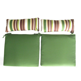 Garden Treasures 17.5-in L x 26-in W Green Patio Chair Cushion