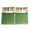 Garden Treasures 17.5-in L x 26-in W Green Chair Cushion