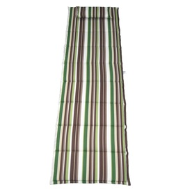 Garden Treasures 79-in L x 23-in W Topanga Stripe Forest Patio Chaise Lounge Cushion