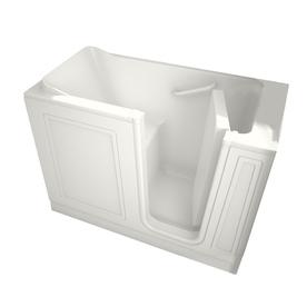 American Standard Walk-In Baths 50.5-in L x 26.25-in W x 37.5-in H White Acrylic Rectangular Walk-In Bathtub with Right-Hand Drain