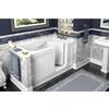American Standard Walk-In Baths 59-in L x 32-in W x 37-in H White Acrylic Rectangular Walk-In Bathtub with Right-Hand Drain