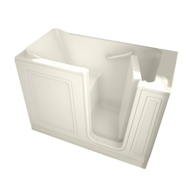 American Standard Walk-In Baths 50-in L x 30-in W x 37-in H Linen Acrylic Rectangular Walk-In Bathtub with Right-Hand Drain