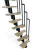 Arke 21-1/4-in Karina Black Modular Staircase Kit