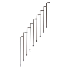 Arke Karina 3.9-ft Gray Painted Beechwood Steel Stair Railing Kit