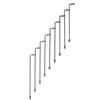 Arke Karina 3.9-ft Gray Painted Beechwood Steel Stair Railing Kit