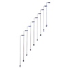Arke Karina 3.9-ft White Painted Beechwood Steel Stair Railing Kit