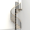 Arke 3-ft 11-in Phoenix Black Spiral Staircase Kit