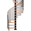 Arke Phoenix 55-in x 10-ft Black Spiral Staircase Kit