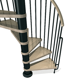 shop arke phoenix 10 ft black spiral staircase kit at