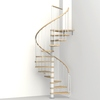 Arke Phoenix 47-in x 10-ft White Spiral Staircase Kit
