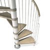 Arke Phoenix 63-in x 10-ft White Spiral Staircase Kit