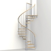Arke Phoenix 47-in x 10-ft Gray Spiral Staircase Kit