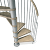 Arke Phoenix 63-in x 10-ft Gray Spiral Staircase Kit