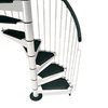 Arke 4-ft 7-in Civik White Spiral Staircase Kit