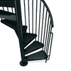 Arke 4-ft 7-in Civik Black Spiral Staircase Kit