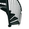 Arke Civik 55-in x 10-ft Black Spiral Staircase Kit