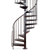 Arke Civik 63-in x 10-ft Black Spiral Staircase Kit