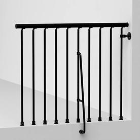 Arke Civik 3.9-ft Black Painted Stair Railing Kit