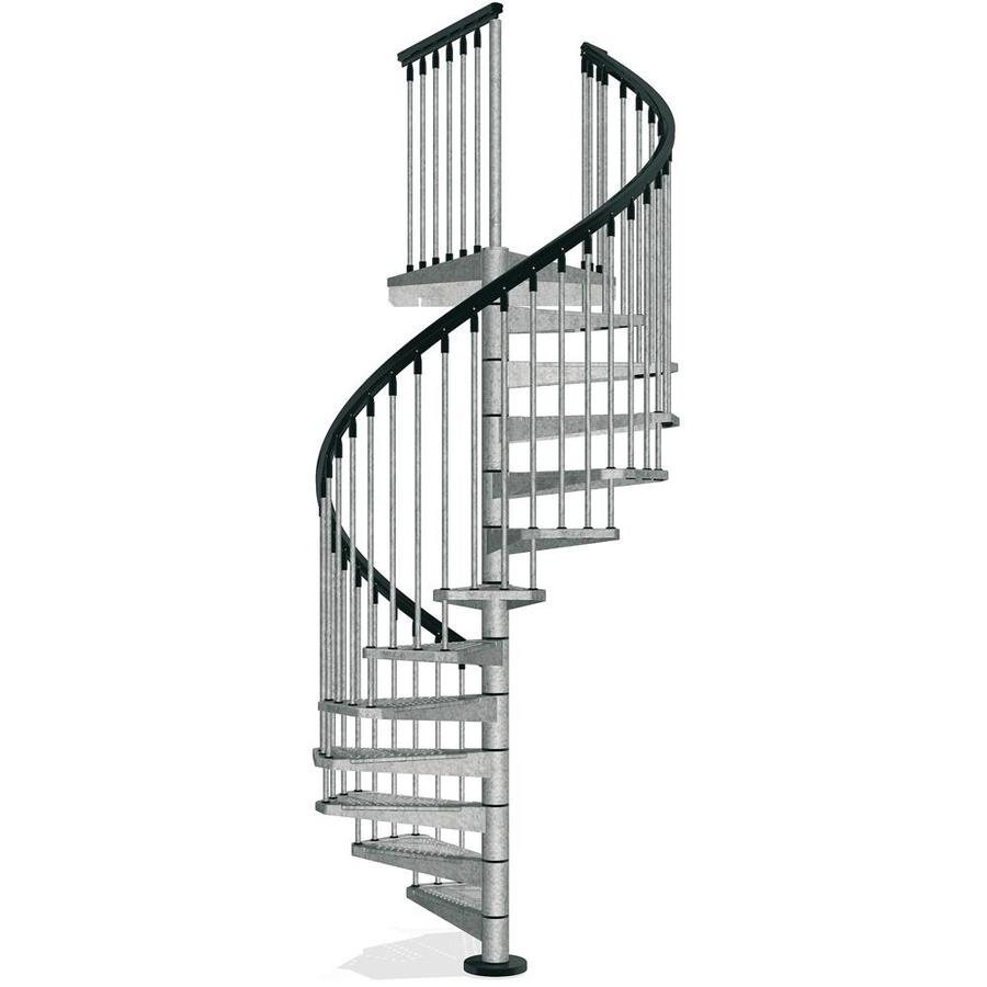 dipped galvanized finish exterior spiral staircase kit at