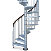 Arke 4-ft 7-in Enduro Grey Spiral Staircase Kit