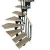 Arke 27-1/4-in Kompact Black Modular Staircase Kit