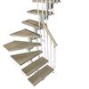Arke Kompact 9.9-ft White Modular Staircase Kit