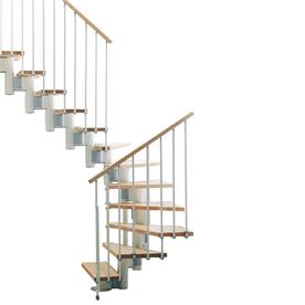 Arke Kompact x 9.9-ft White Modular Staircase Kit