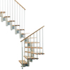 Arke 27-1/4-in Kompact White Modular Staircase Kit