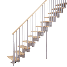 Arke 27-1/4-in Kompact Grey Modular Staircase Kit