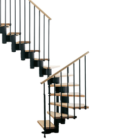 Arke 33-1/2-in Kompact Black Modular Staircase Kit