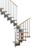 Arke 33-1/2-in Kompact Grey Modular Staircase Kit