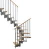 Arke Kompact 33.5-in x 9.9-ft Gray Modular Staircase Kit