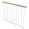 Arke Kompact White Modular Balcony Rail Kit