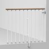 Arke Phoenix 3.9-ft White Painted Beechwood Steel Stair Railing Kit