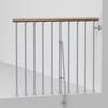 Arke Phoenix 3.9-ft Gray Painted Beechwood Steel Stair Railing Kit