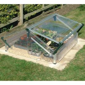 Palram 3.6-ft L x 3.25-ft W x 1.96-ft H Metal Plexiglass Greenhouse
