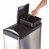 Step N' Sort 16-Gallon Stainless Steel Recycling Bin