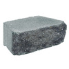 Grey/Charcoal Basic Concrete Retaining Wall Block (Common: 12-in x 4-in; Actual: 11.7-in x 4-in)